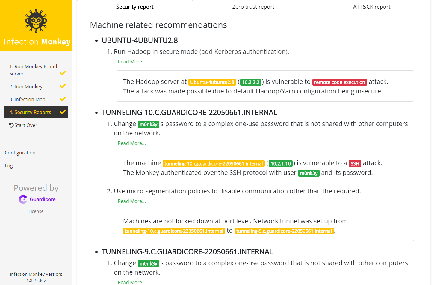 Machine related recommendations